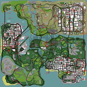 Mapa completo de Armas para GTA San Andreas