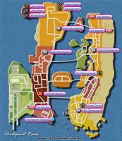 Mapa Corridas de Checkpoint - GTA Vice City