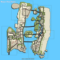 Mapa pulos únicos - GTA Vice City